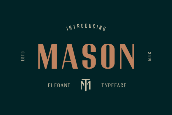 Print on Demand: Mason Sans Serif Font By fadielm70