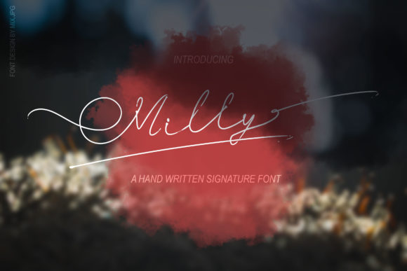 Print on Demand: Milly Signature Script & Handwritten Font By MIX.Jpg - Image 1