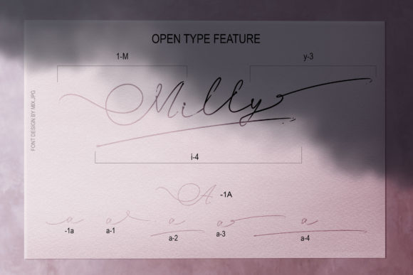 Print on Demand: Milly Signature Script & Handwritten Font By MIX.Jpg - Image 9