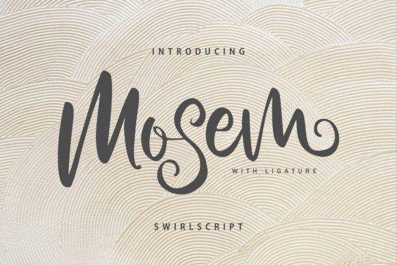 Print on Demand: Mosem Script & Handwritten Font By Vunira