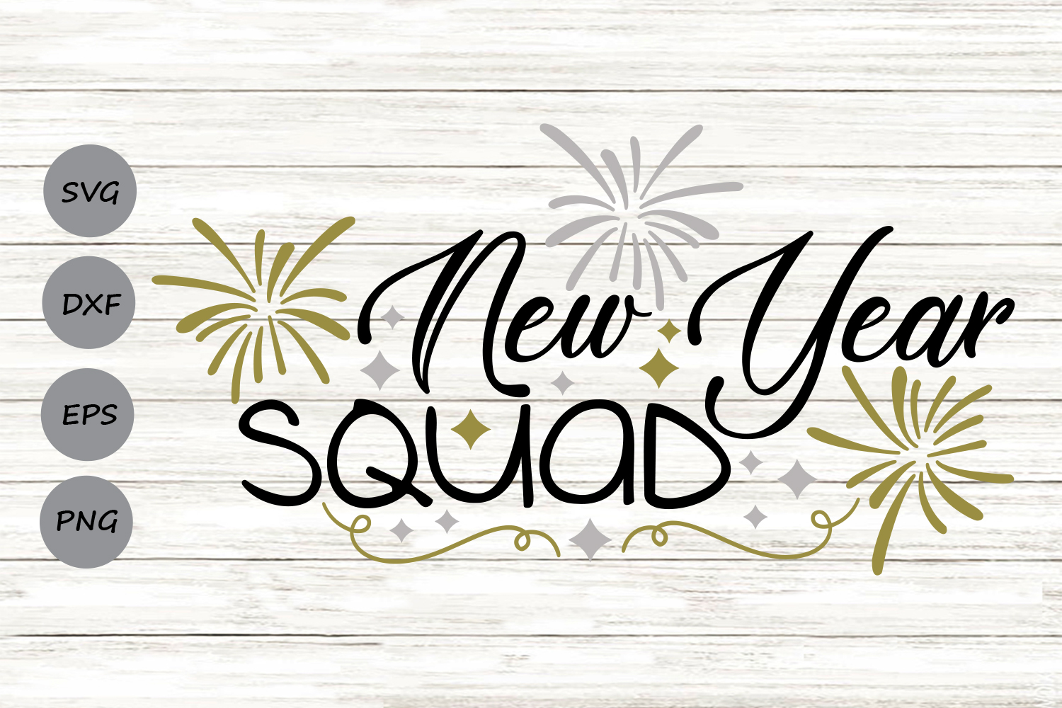 Download Free New Year Squad Graphic By Cosmosfineart Creative Fabrica SVG Cut Files