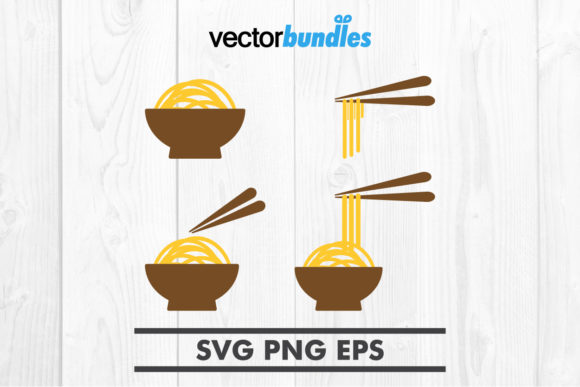 Download Free Noodle Clip Art Graphic By Vectorbundles Creative Fabrica for Cricut Explore, Silhouette and other cutting machines.