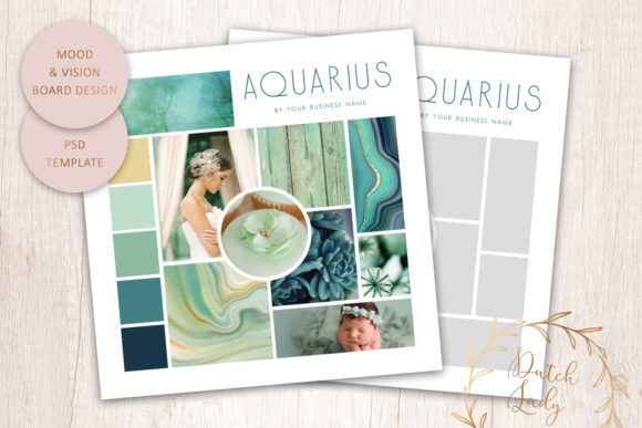 Print on Demand: PSD Mood & Vision Board Template #8 Graphic Print Templates By daphnepopuliers