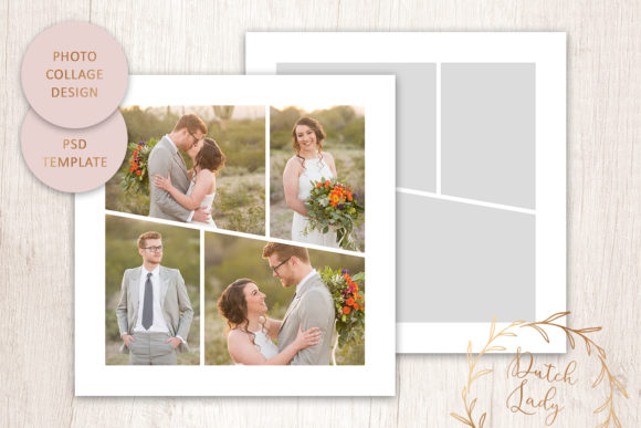 Print on Demand: PSD Photo Collage Template #5 Graphic Print Templates By daphnepopuliers