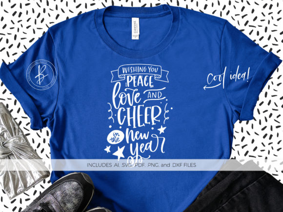 Download Free Peace Love And Cheer In The New Year Graphic By Beckmccormick SVG Cut Files