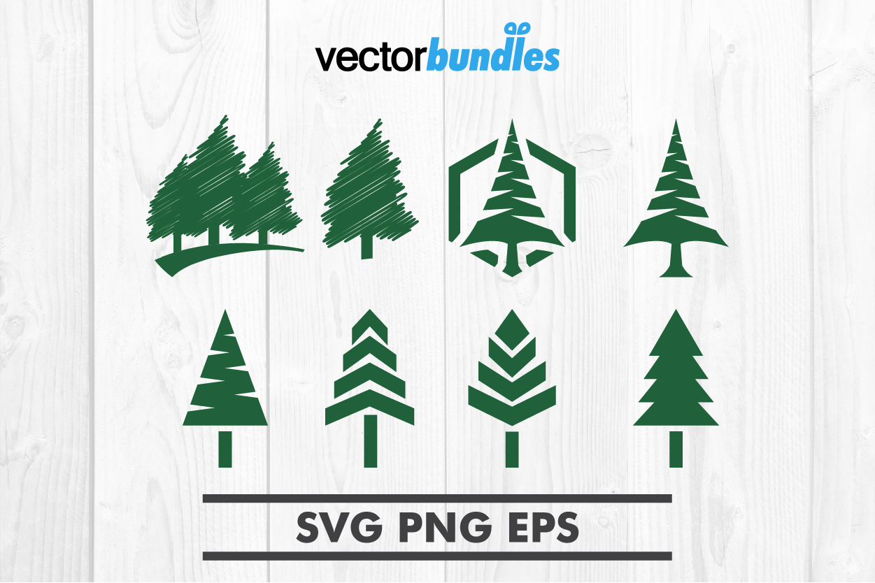 Download Free Pine Tree Clip Art Graphic By Vectorbundles Creative Fabrica for Cricut Explore, Silhouette and other cutting machines.