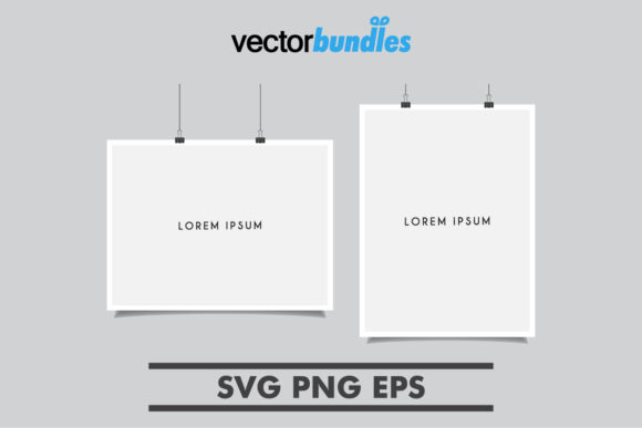 Download Free Poster Placeholder Template Graphic By Vectorbundles Creative for Cricut Explore, Silhouette and other cutting machines.