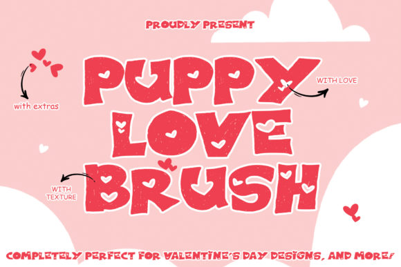 Print on Demand: Puppy Love Brush Display Font By thomasaradea