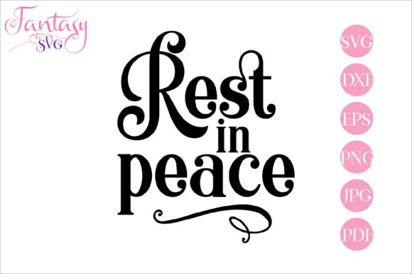Print on Demand: Rest in Peace Memorial Graphic Crafts By Fantasy SVG - Image 1