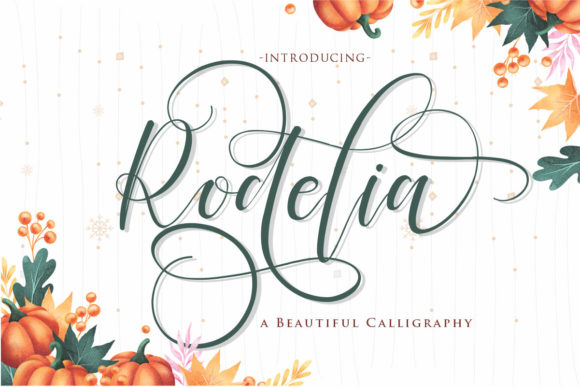 Print on Demand: Rodelia Script & Handwritten Font By Gilar Studio