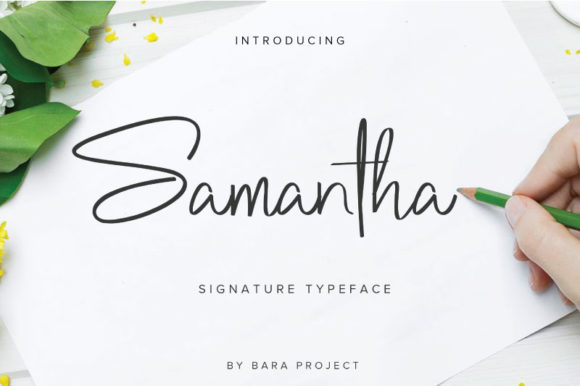 Print on Demand: Samantha Script & Handwritten Font By Baraproject87 - Image 1