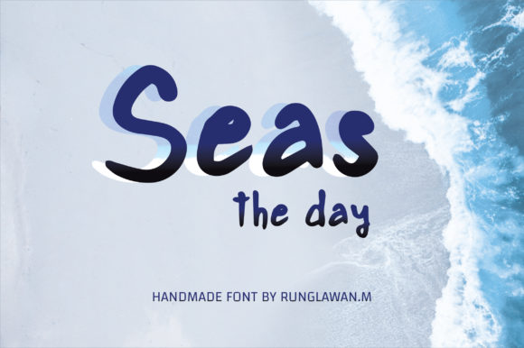 Print on Demand: Seas the Day Script & Handwritten Font By BitongType