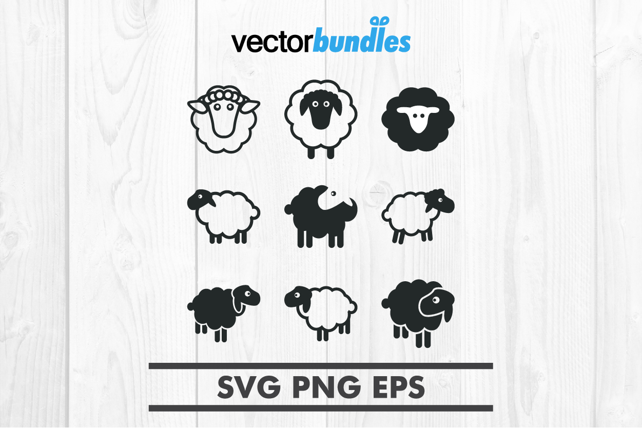 Download Free Sheep Clip Art Graphic By Vectorbundles Creative Fabrica SVG Cut Files