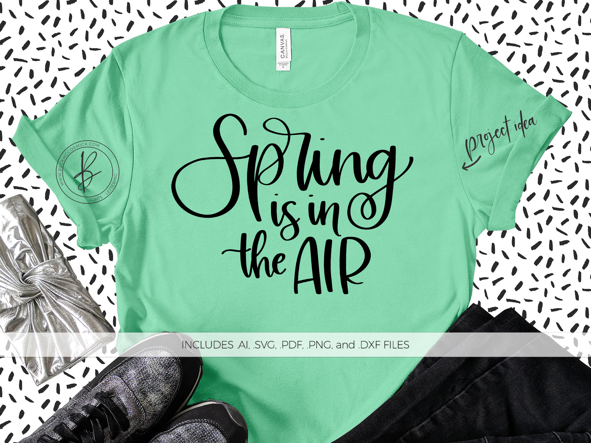 Download Free Spring Is In The Air Graphic By Beckmccormick Creative Fabrica for Cricut Explore, Silhouette and other cutting machines.
