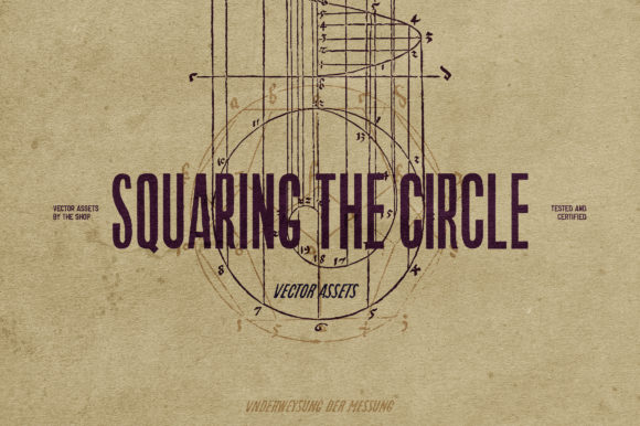 Squaring the Circle Vector Assets Graphic Objects By theshopdesignstudio