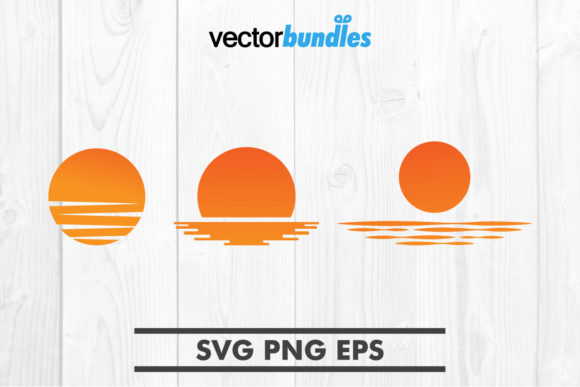 Download Free Sunset Clip Art Graphic By Vectorbundles Creative Fabrica for Cricut Explore, Silhouette and other cutting machines.
