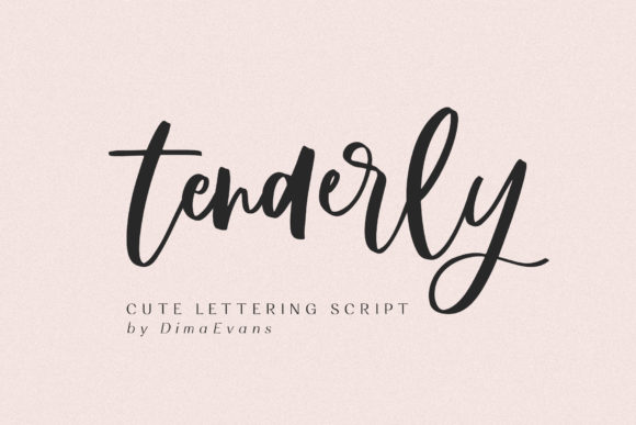 Print on Demand: Tenderly Script & Handwritten Font By Dmitrii Chirkov