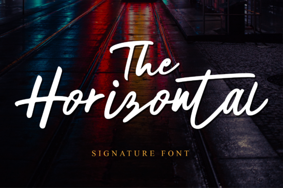 Print on Demand: The Horizontal Manuscrita Fuente Por fanastudio