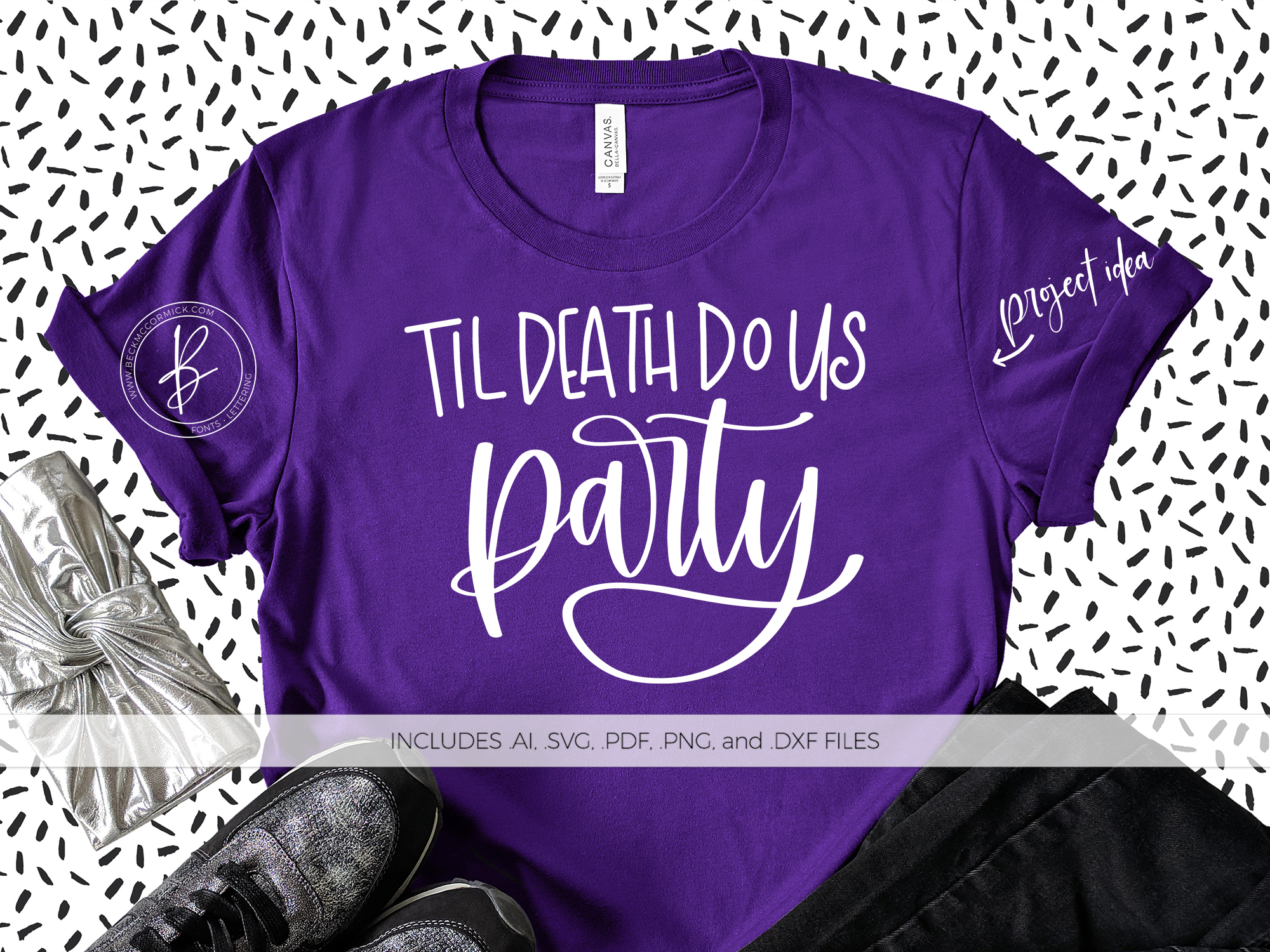 Download Free Til Death Do Us Party Graphic By Beckmccormick Creative Fabrica for Cricut Explore, Silhouette and other cutting machines.
