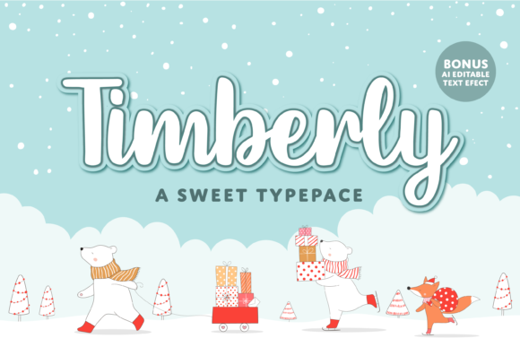 Print on Demand: Timberly Script & Handwritten Font By Typestory - Image 1