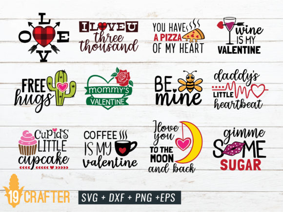 Print on Demand: Valentine Day Craft Bundle Volume 1 Grafik Designvorlagen von great19