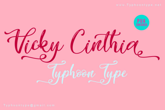 Print on Demand: Vicky Cinthia Script & Handwritten Font By Typhoon Type - Suthi Srisopha