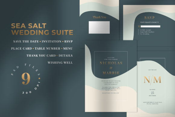 Download Free Modern Colorful Wedding Suite Graphic By Azka Creative SVG Cut Files