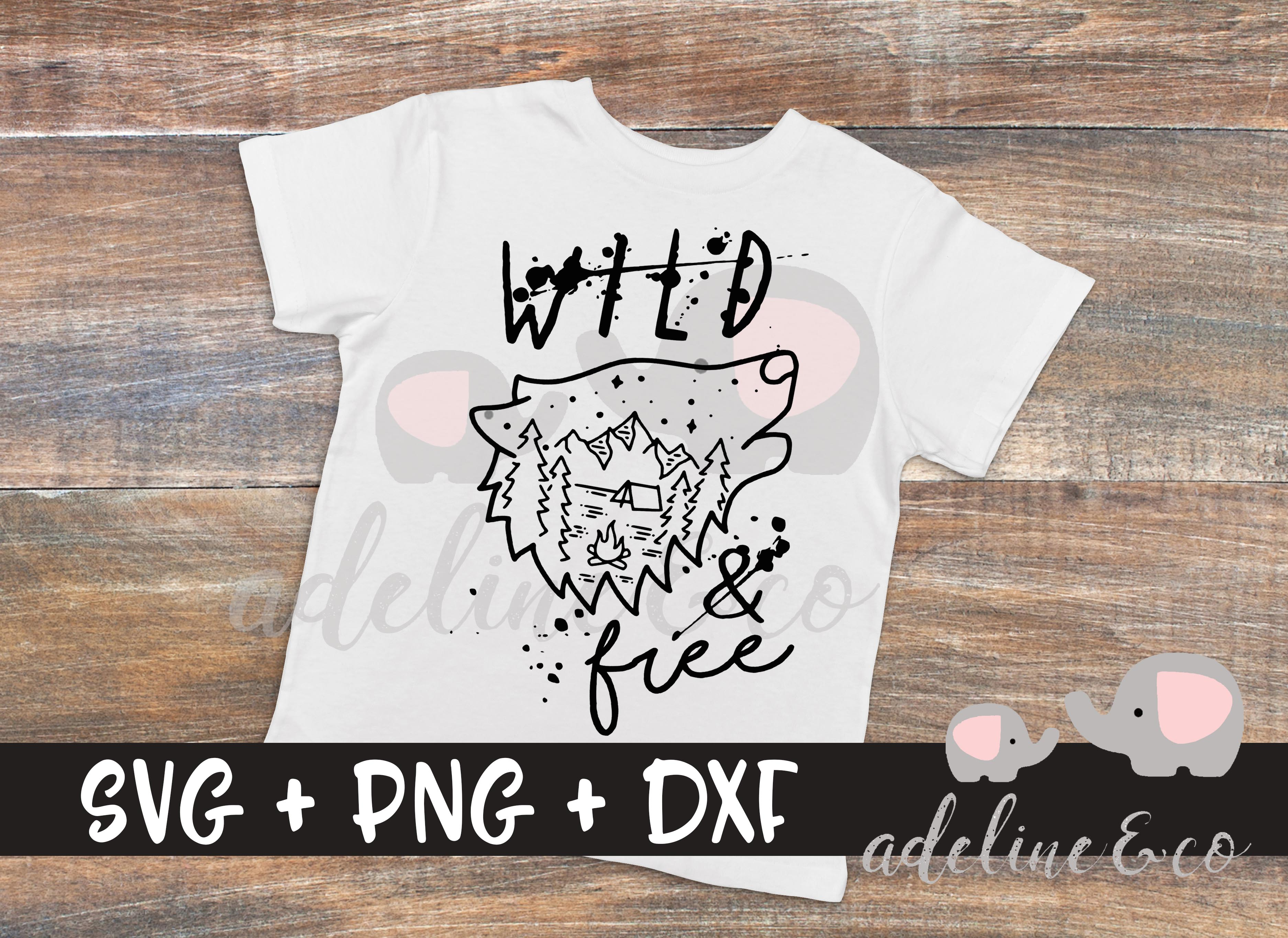 Download Free Wild And Free Wolf Graphic By Adelinenco Creative Fabrica for Cricut Explore, Silhouette and other cutting machines.