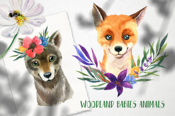 Woodland Babies Animals Graphic Illustrations By lena-dorosh - Image 1