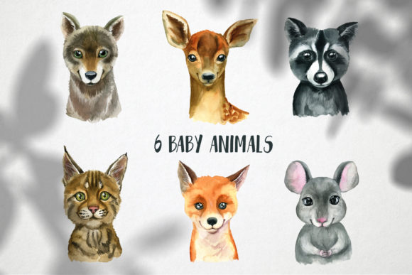 Woodland Babies Animals Graphic Illustrations By lena-dorosh - Image 2