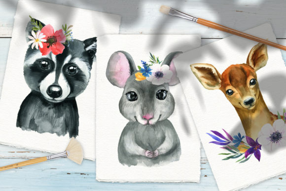 Woodland Babies Animals Graphic Illustrations By lena-dorosh - Image 3