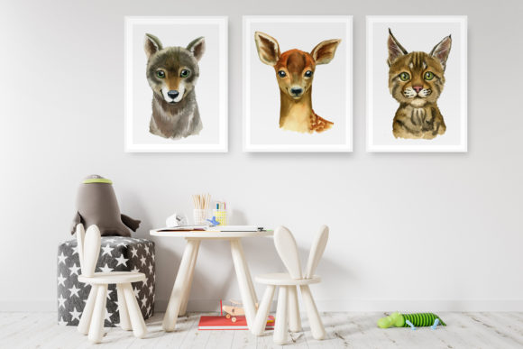 Woodland Babies Animals Graphic Illustrations By lena-dorosh - Image 5