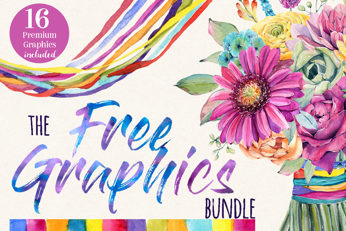 Download Free The Free Graphics Bundle Bundle Creative Fabrica for Cricut Explore, Silhouette and other cutting machines.