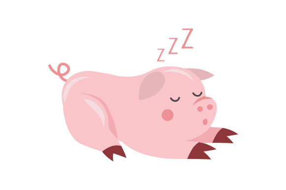 Download Free Cute Sleeping Pig Svg Cut File By Creative Fabrica Crafts for Cricut Explore, Silhouette and other cutting machines.