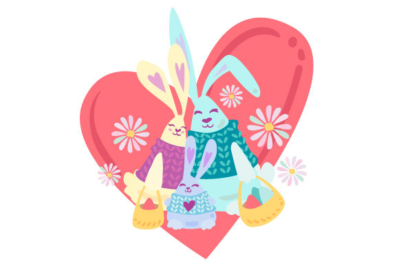 Bunny Family Easter Craft Cut File By Creative Fabrica Crafts