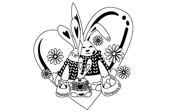 Download Free Bunny Family Svg Cut File By Creative Fabrica Crafts Creative for Cricut Explore, Silhouette and other cutting machines.