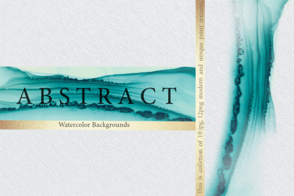 Print on Demand: Abstract Watercolor Backgrounds Graphic Textures By DAYDESIGN