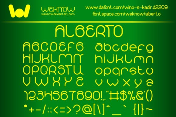 Print on Demand: Alberto Display Font By weknow