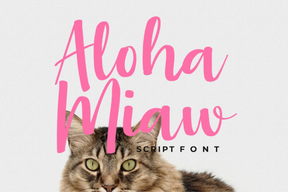 Print on Demand: Aloha Miaw Script & Handwritten Font By formatikastd