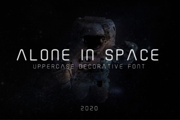 Print on Demand: Alone in Space Decorative Font By AwesomeGraphic