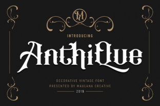 Print on Demand: Anthique Display Font By Maulana Creative