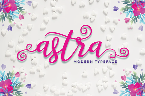 Print on Demand: Astra Script & Handwritten Font By utopiabrand19