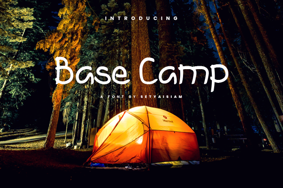 Print on Demand: Base Camp Display Font By setyaisiam