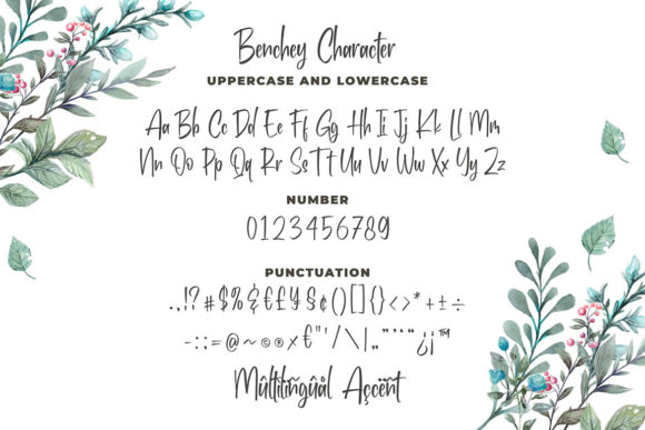 Print on Demand: Benchey Display Font By Blankids Studio - Image 4