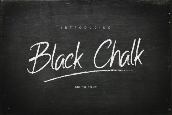 Print on Demand: Black Chalk Script & Handwritten Font By kudocreative