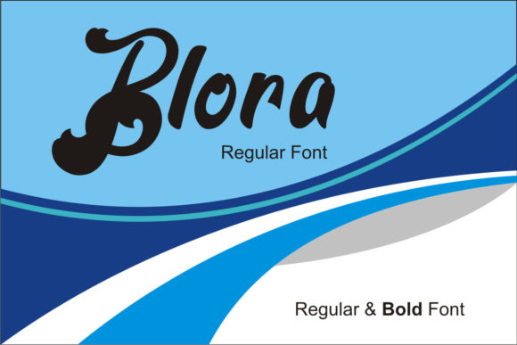 Print on Demand: Blora Script & Handwritten Font By emanesdsign