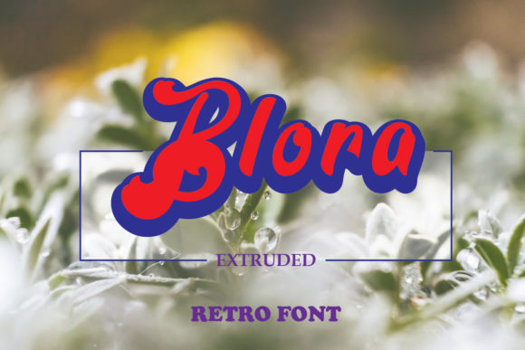 Print on Demand: Blora Decorative Font By emanesdsign