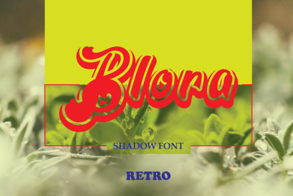 Print on Demand: Blora Display Font By emanesdsign
