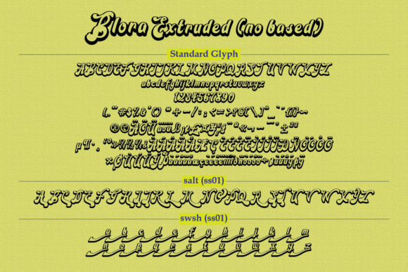 Blora Font Preview
