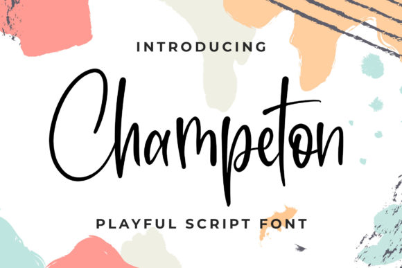 Print on Demand: Champeton Script & Handwritten Font By Blankids Studio